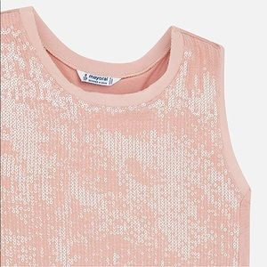 Mayoral Pink Sequin Tank Top